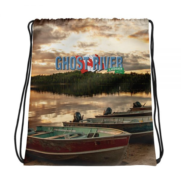 Ghost River Lodges – Drawstring Bag – Boats – Front