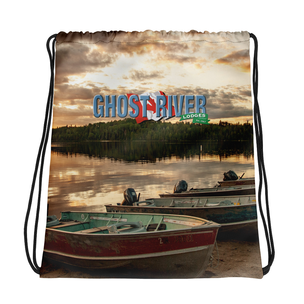 Ghost River Lodges - Drawstring Bag - Boats - Front