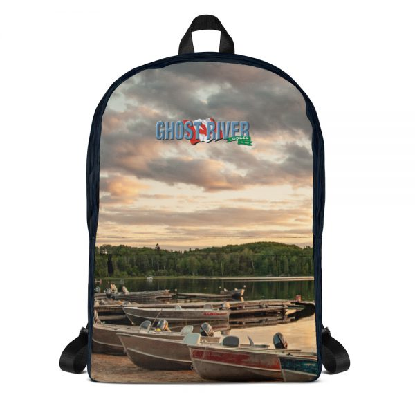 Ghost River Lodges – Backpack – Boats – Front