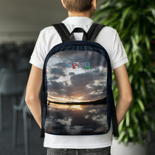 Ghost River Lodges – Backpack – Sunset – Wearing
