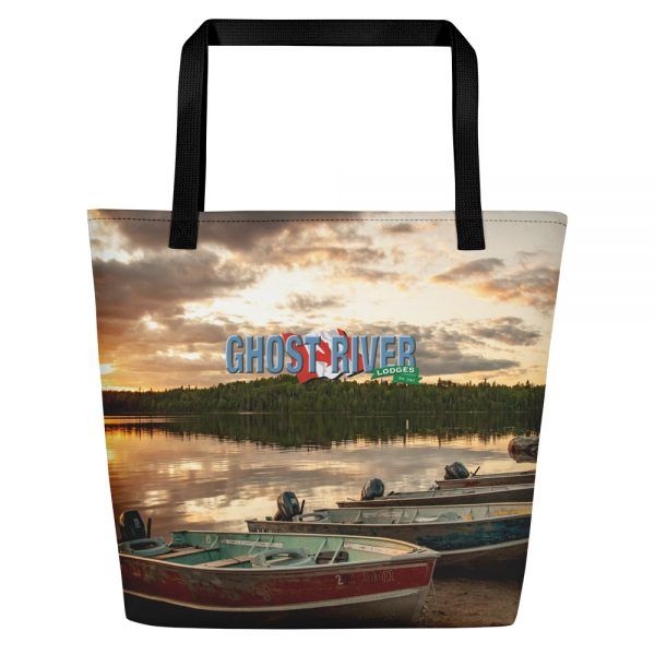 Ghost River Lodges – Beach Bag – Boats – Front