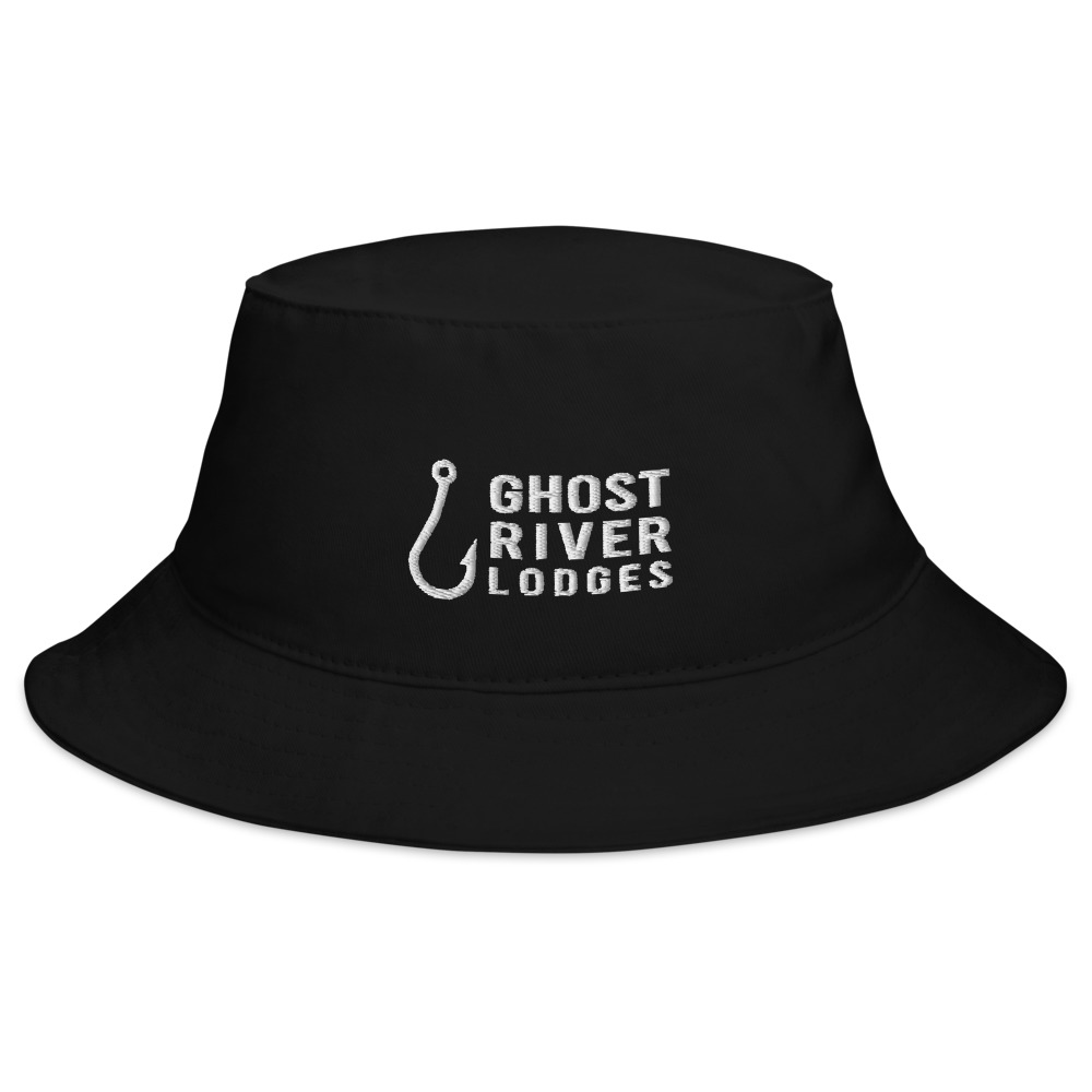 Ghost River Lodges - Bucket Hat - Hook Logo - Black