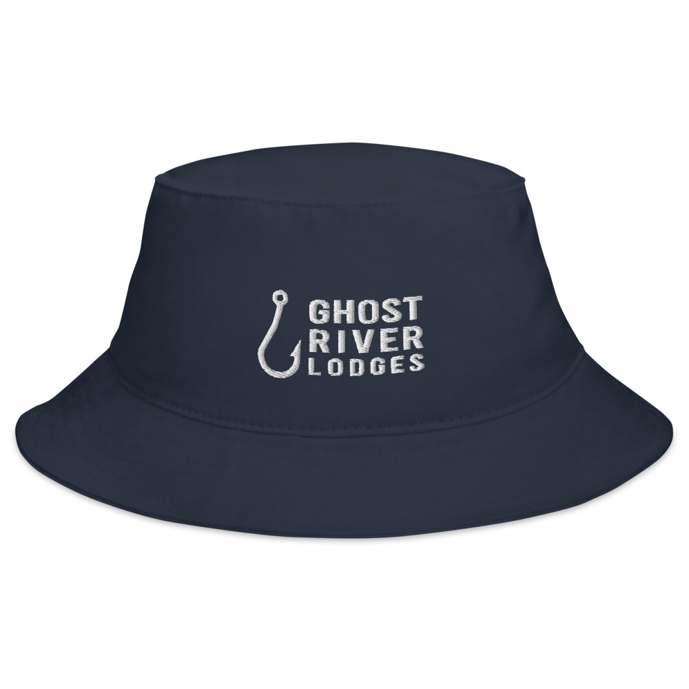 Ghost River Lodges - Bucket Hat - Hook Logo - Navy