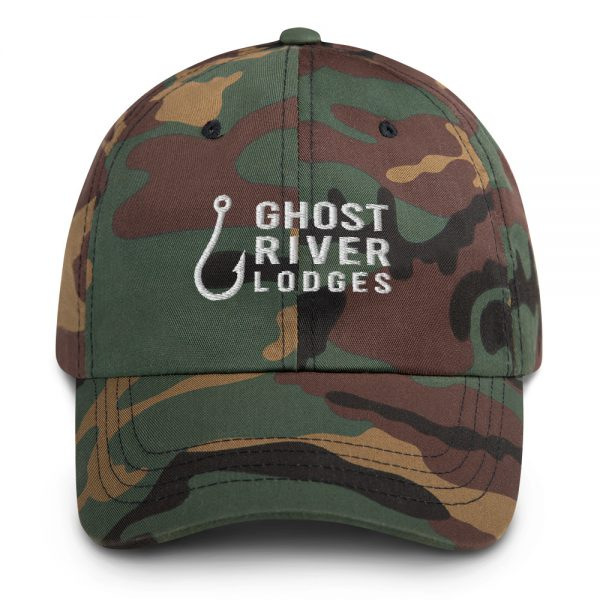 Ghost River Lodges – Dad Hat – Hook Logo – Camo