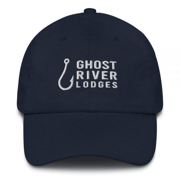 Ghost River Lodges – Dad Hat – Hook Logo – Navy