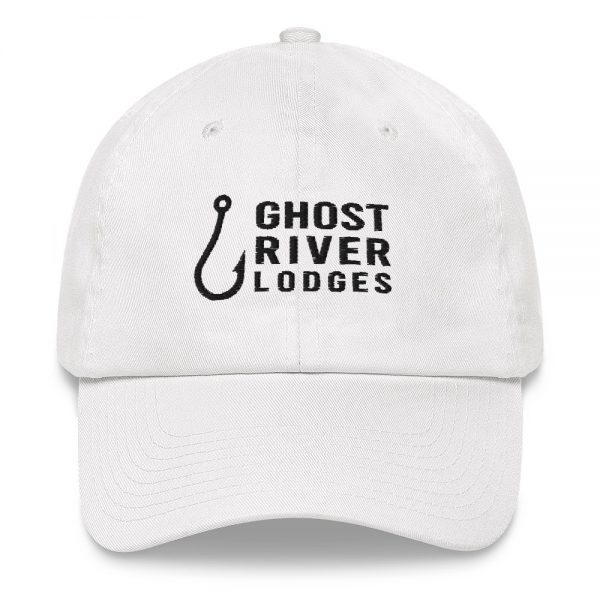 Ghost River Lodges – Dad Hat – Hook Logo – White