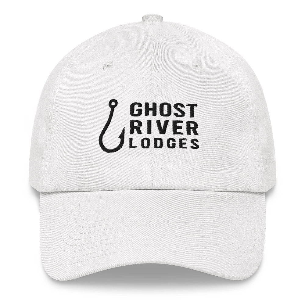 Ghost River Lodges - Dad Hat - Hook Logo - White