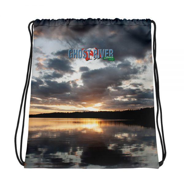 Ghost River Lodges – Drawstring Bag – Sunset – Front