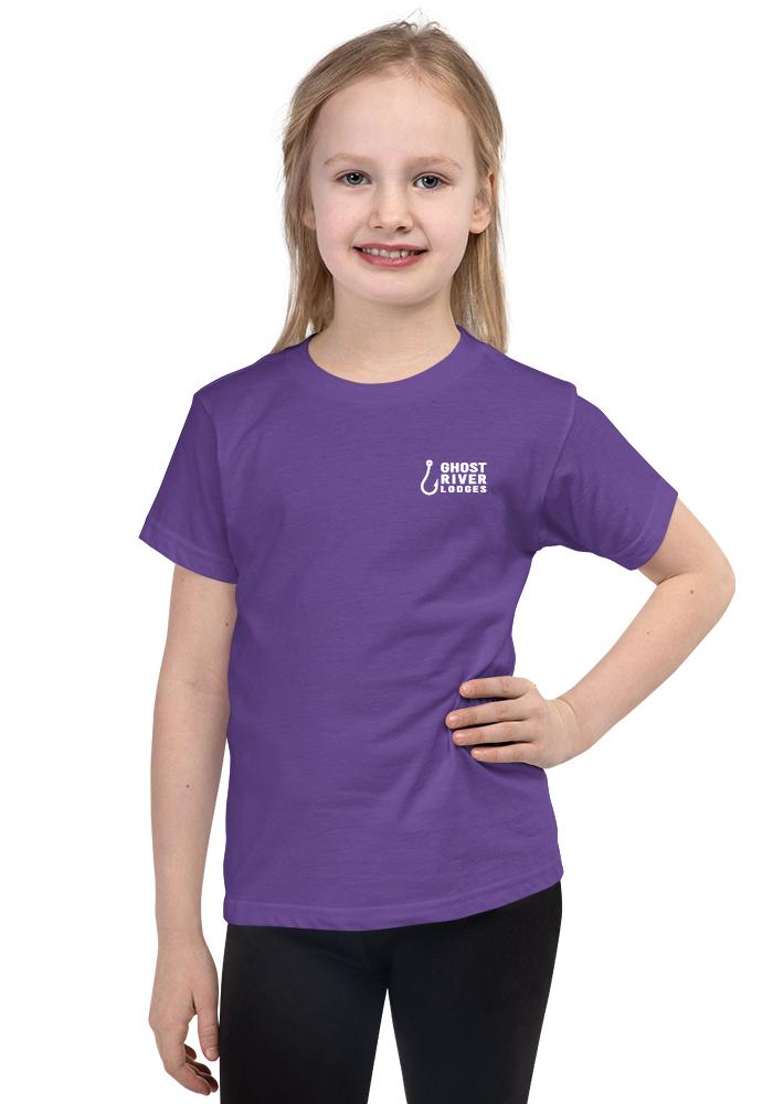 Ghost River Lodges - Kids Purple Tshirt