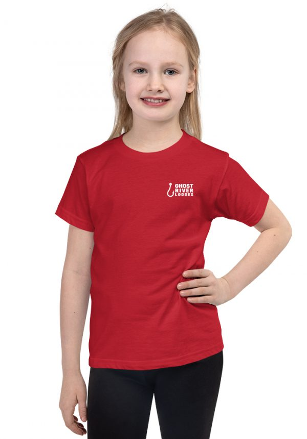 Ghost River Lodges – Kids Red Tshirt