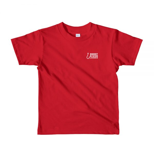 Ghost River Lodges – Kids Red Tshirt – Flat