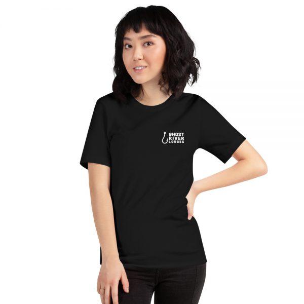 Ghost River Lodges – Ladies Black Tshirt