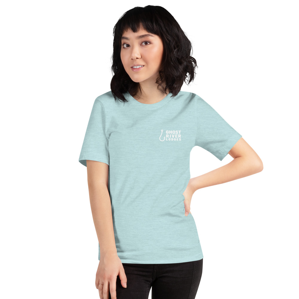 Ghost River Lodges - Ladies Ice Blue Tshirt