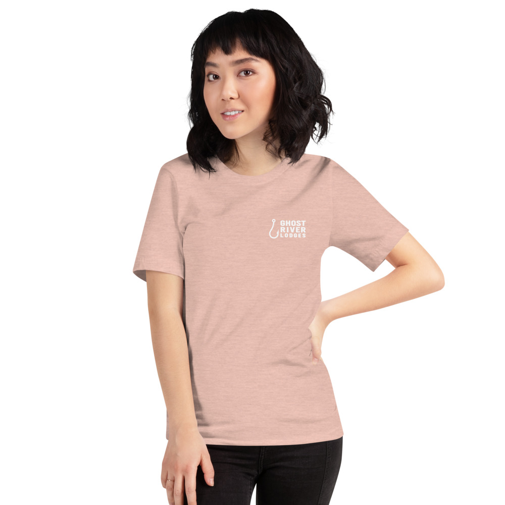 Ghost River Lodges - Ladies Peach Tshirt