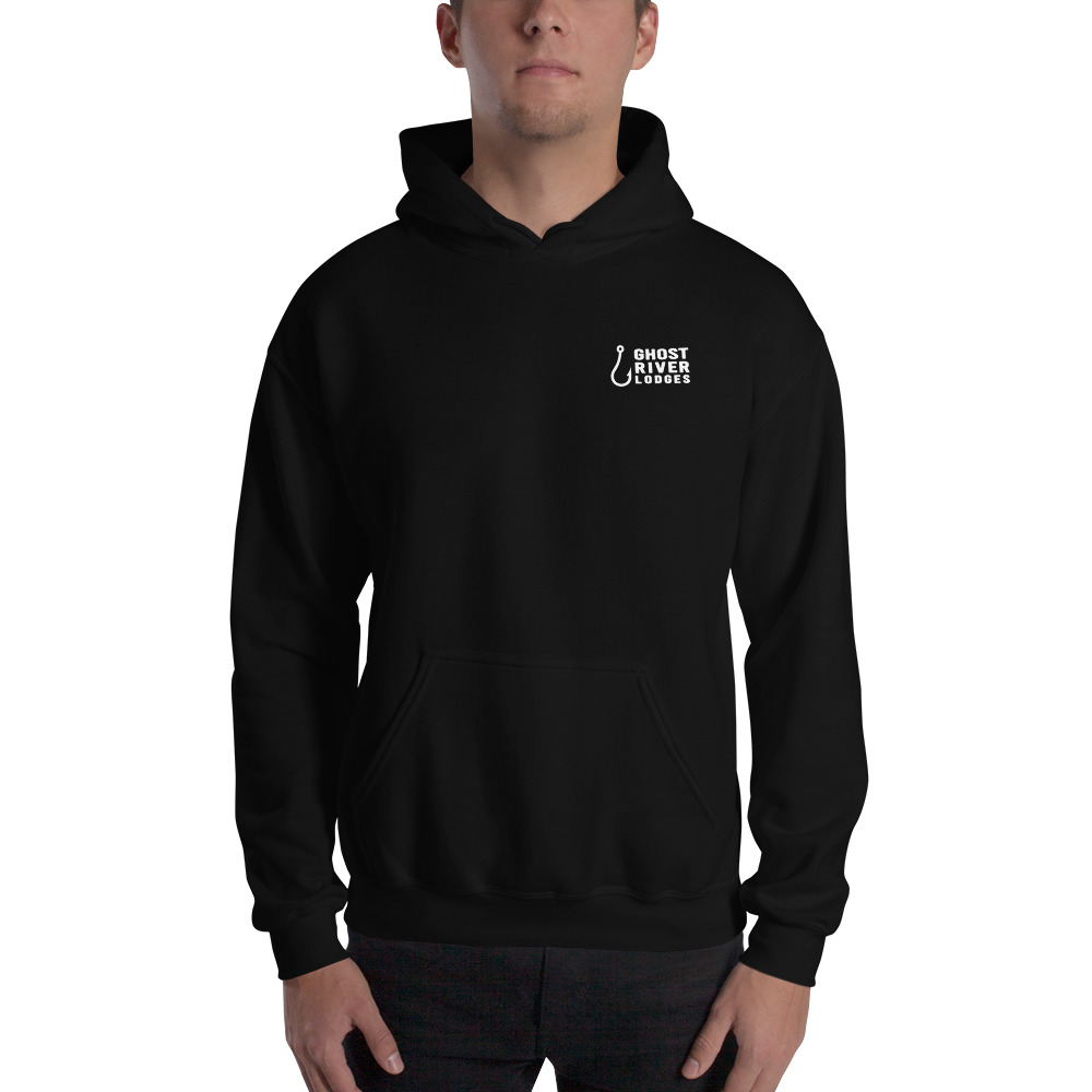 Ghost River Lodges - Mens Black Hoodie