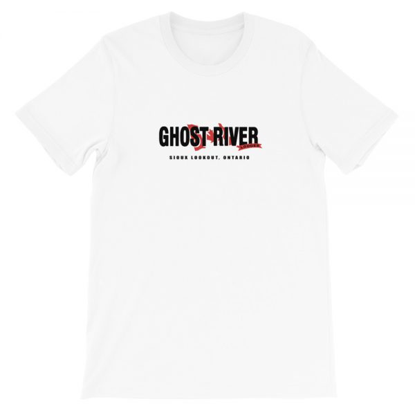 Ghost River Lodges – Mens White Classic Tshirt – Flat