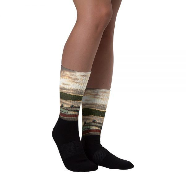Ghost River Lodges – Socks – Boats – Front