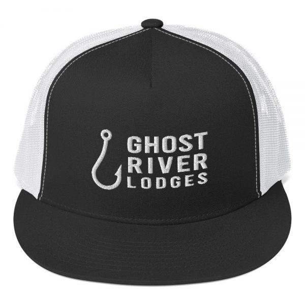 Ghost River Lodges – Trucker Hat – Hook Logo – Black