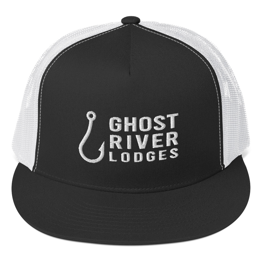 Ghost River Lodges - Trucker Hat - Hook Logo - Black