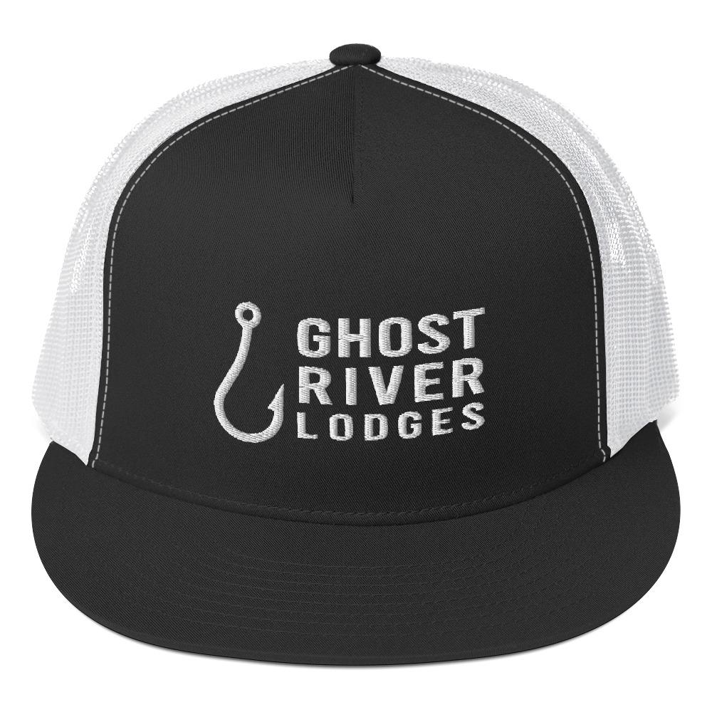 Ghost River Lodges - Trucker Hat - Hook Logo - Black