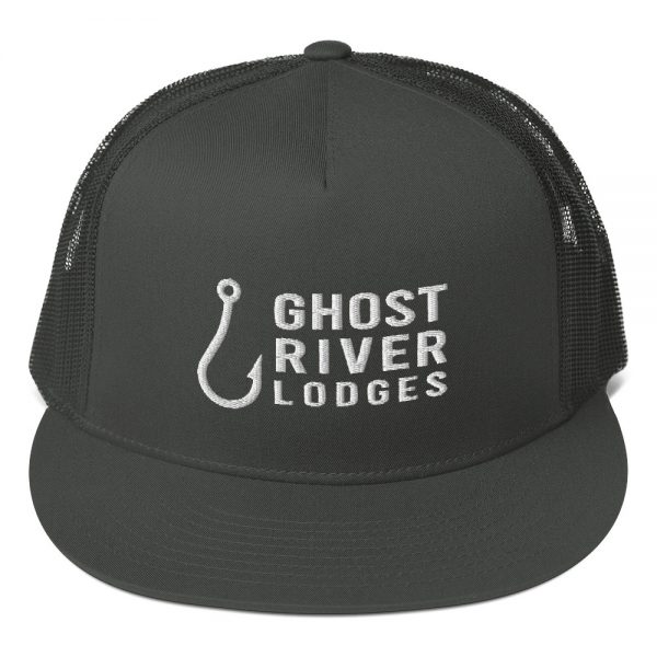 Ghost River Lodges – Trucker Hat – Hook Logo – Charcoal