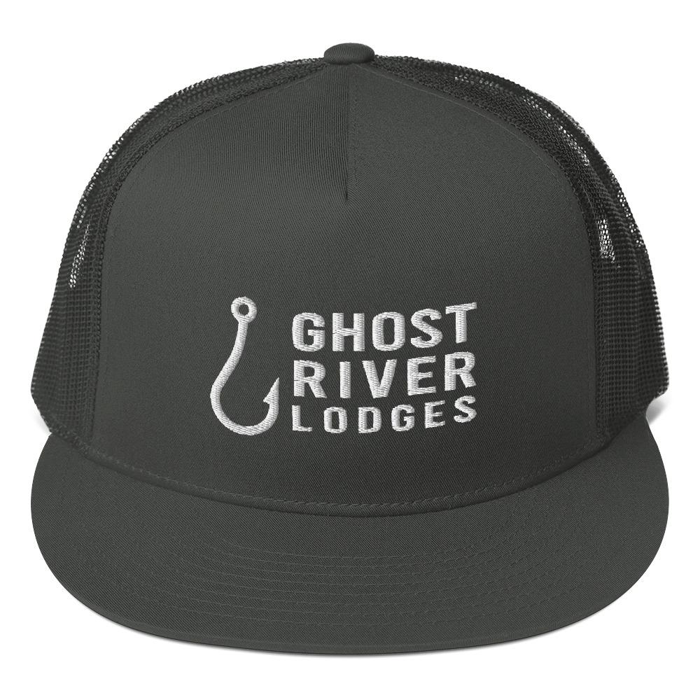 Ghost River Lodges - Trucker Hat - Hook Logo - Charcoal