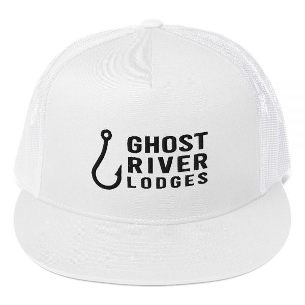 Ghost River Lodges – Trucker Hat – Hook Logo – White