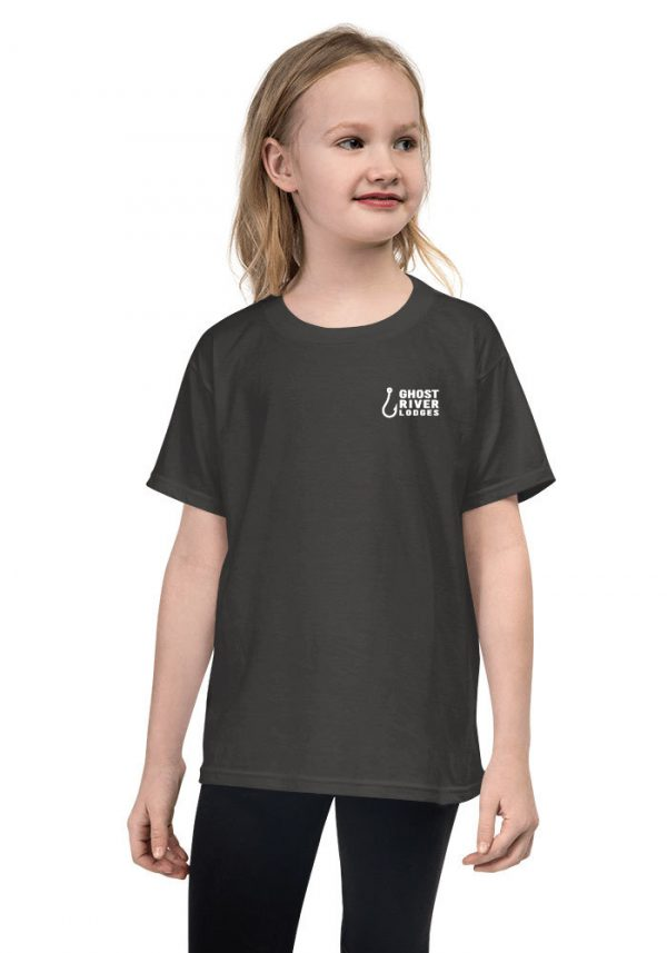 Ghost River Lodges – Youth Charcoal Tshirt